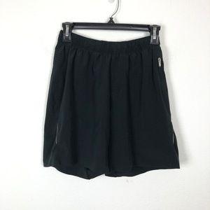 """Lululemon Men's Black Workout Shorts Lined 7"""" S"""